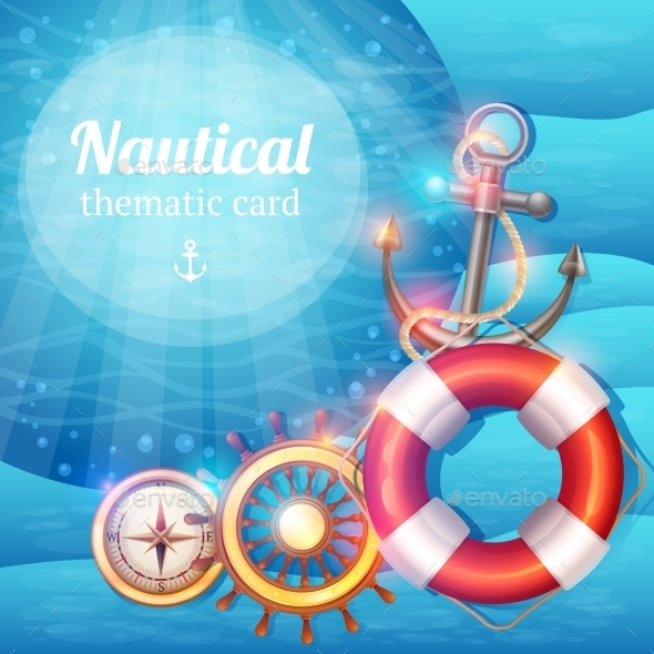 Marine Symbols Background - Travel Conceptual