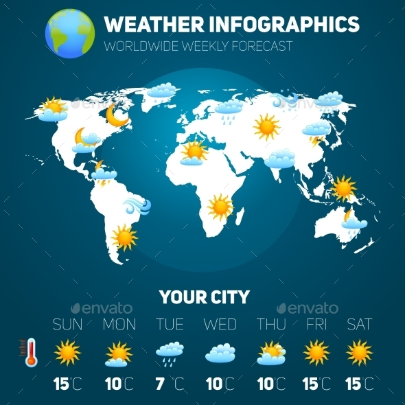 Weather Infographic Set - Nature Conceptual