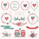 Romantic Set with Decorative Elements - GraphicRiver Item for Sale