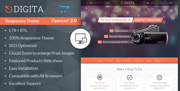 Digita - Opencart Multipurpose Theme