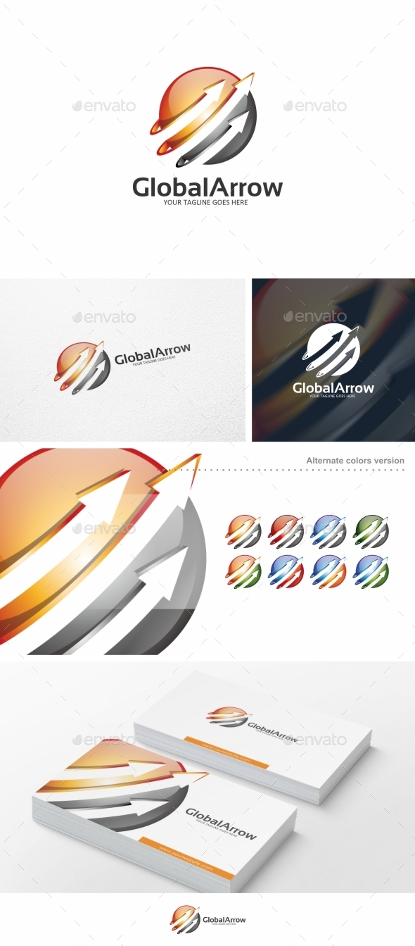 Global Arrow - Logo Template - Symbols Logo Templates
