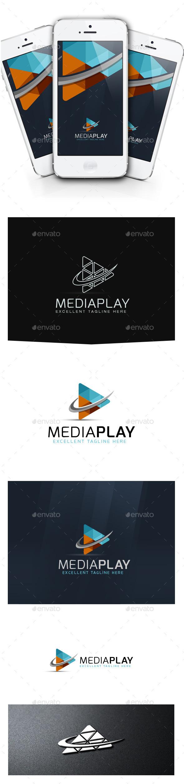 Media Play - Symbols Logo Templates