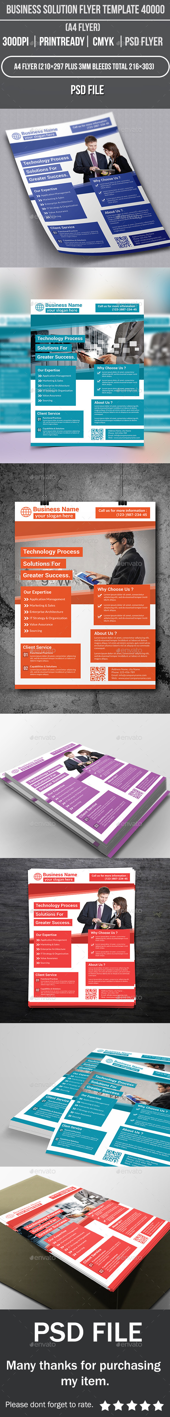 Business Solution Flyer Template 40000 - Corporate Flyers