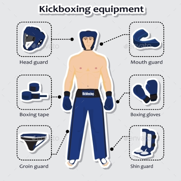 Sport Equipment for Kickboxing Martial Arts - Sports/Activity Conceptual
