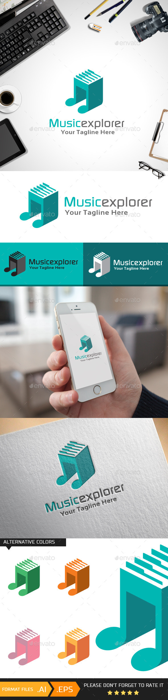 Musicexplorer Logo Template - Symbols Logo Templates