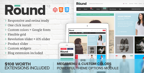 Round – Responsive Magento Theme