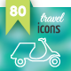80 Contour Icons Set - GraphicRiver Item for Sale