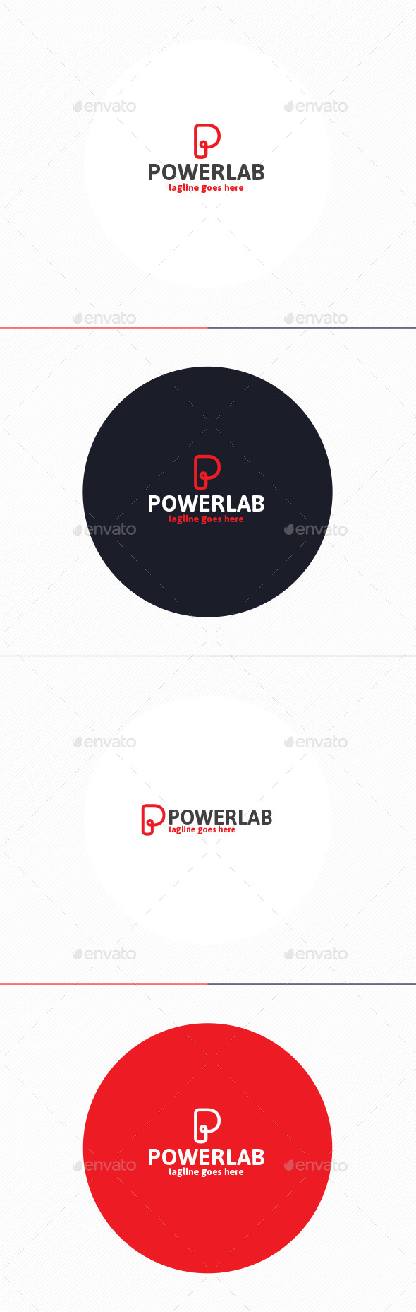 Power Lab Logo • Letter P - Letters Logo Templates