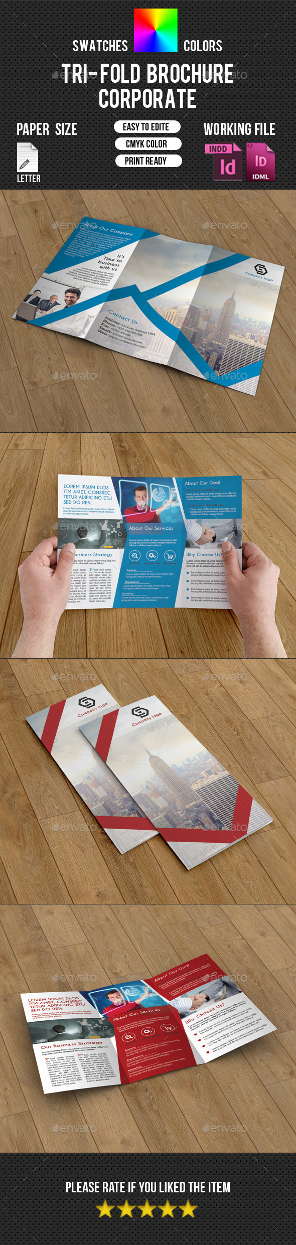 Corporate Trifold Brochure-V224 - Corporate Brochures