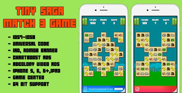 Tiny Saga - Match 3 Game - CodeCanyon Item for Sale