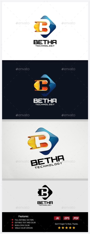 Betha Technology Logo - 3d Abstract