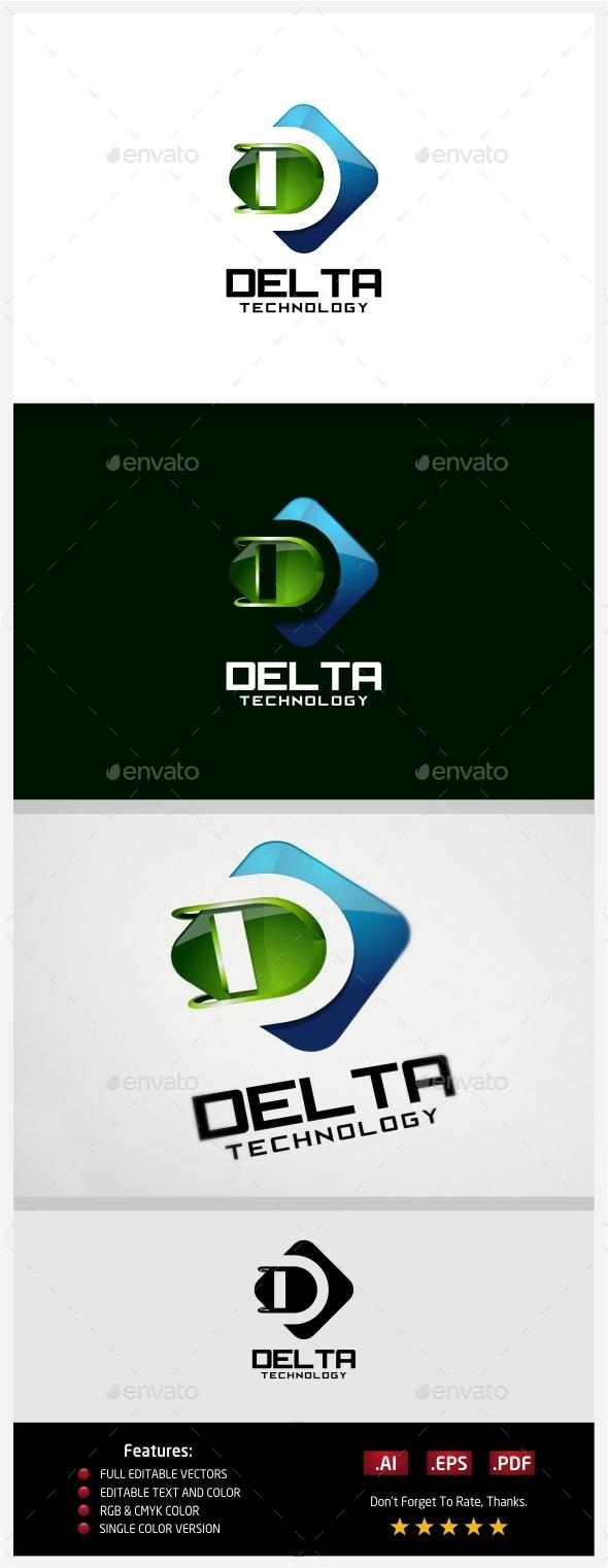 Delta Technology Logo - 3d Abstract