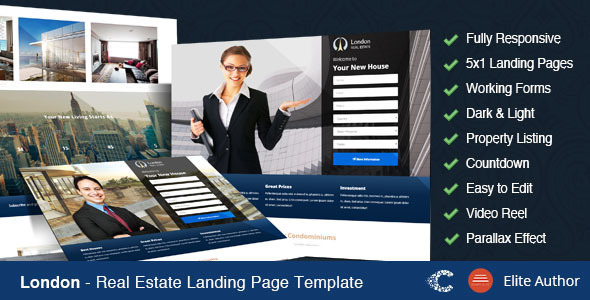 Image of London - Real Estate Landing Page