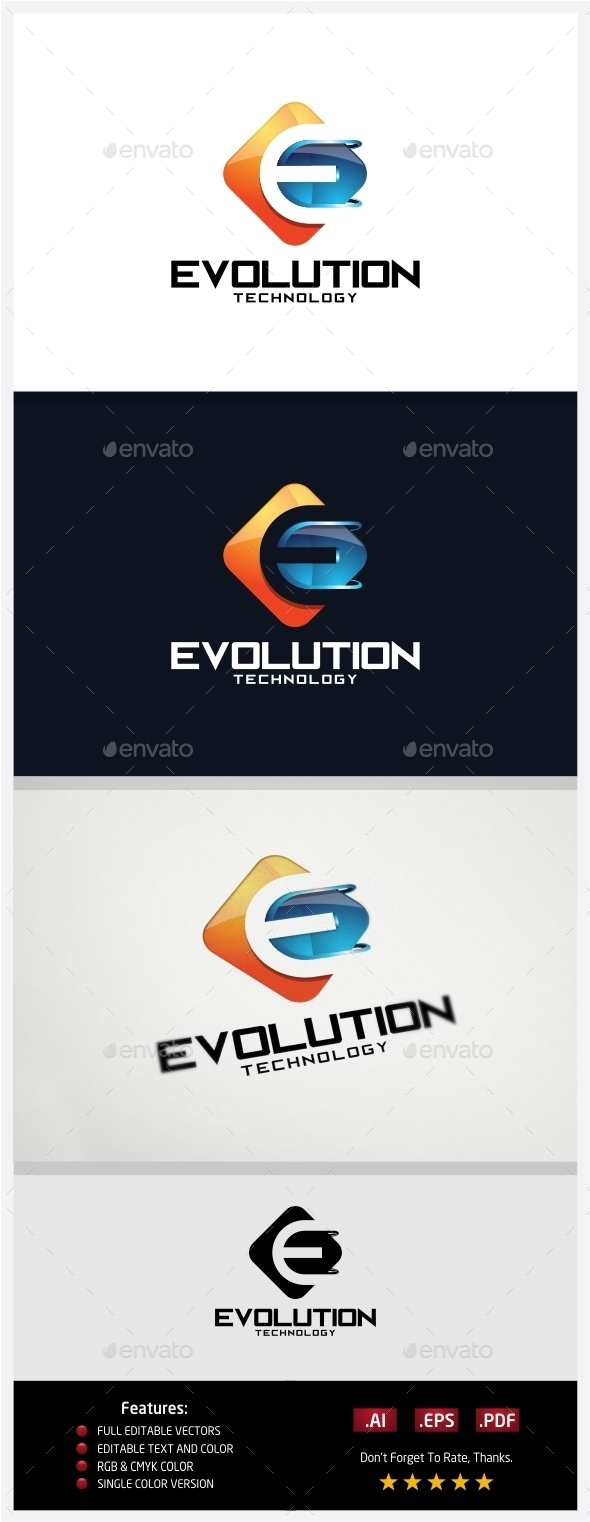 Evolution Technology Logo - 3d Abstract