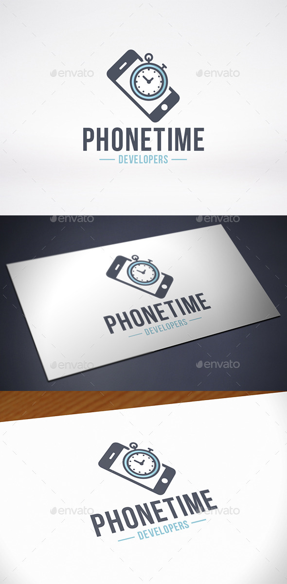 Phone Time Logo Template - Objects Logo Templates