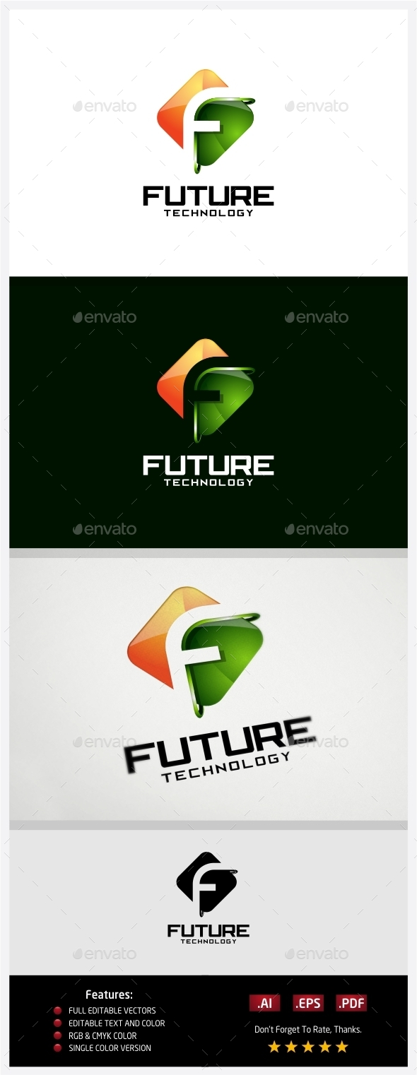 Future Technology Logo - 3d Abstract
