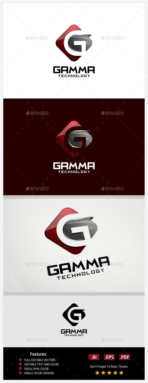 Gamma Technology Logo - 3d Abstract