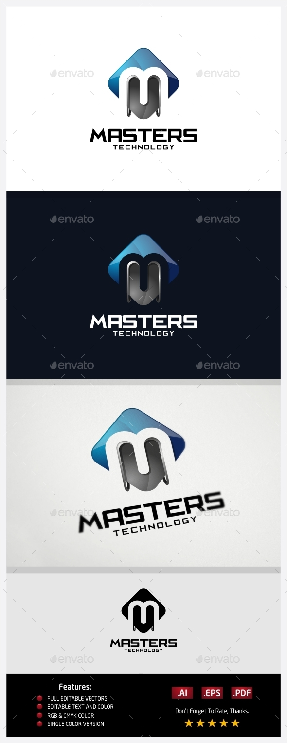 Master Technology Logo - 3d Abstract