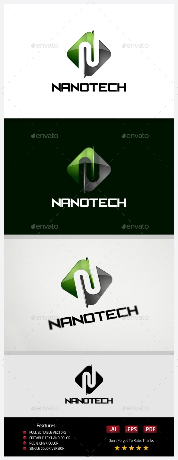 Nano Technology Logo - 3d Abstract
