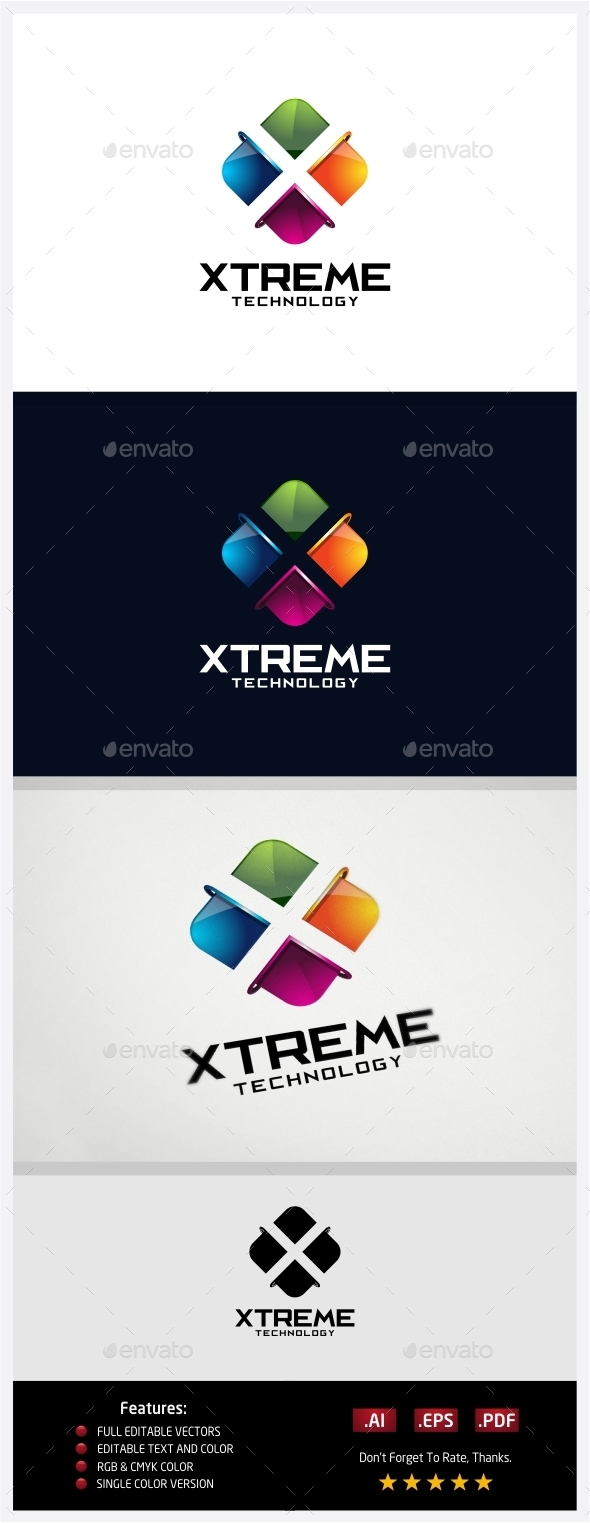 Xtreme Technology Logo - 3d Abstract