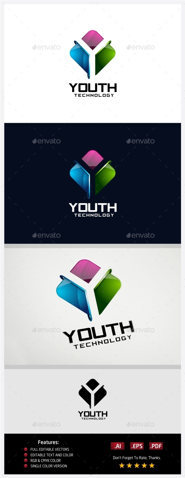 Youth Technology Logo - 3d Abstract