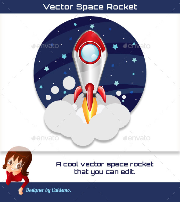 Vector Space Rocket - Man-made Objects Objects