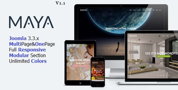 Maya – Smart & Powerful Joomla Theme