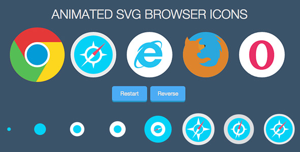 Download Animated SVG Browser Icons nulled version