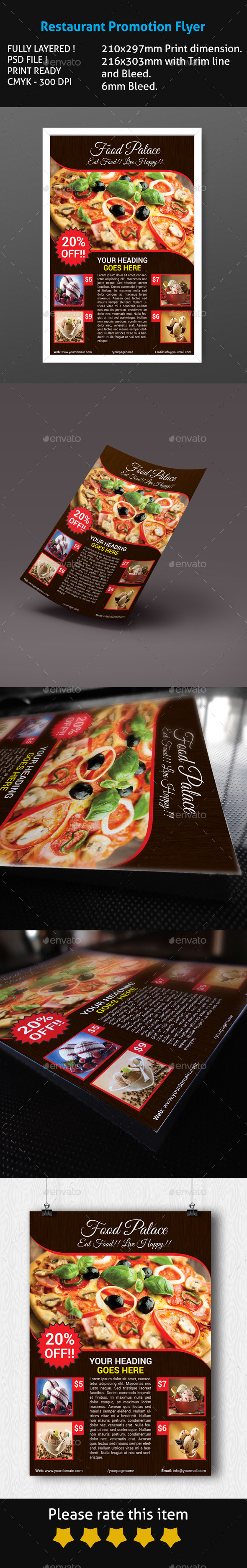 Restaurant Promotion Flyer - Restaurant Flyers