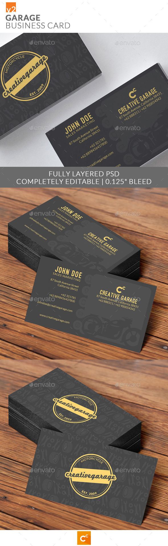 Garage Business Cards v2 - Industry Specific Business Cards