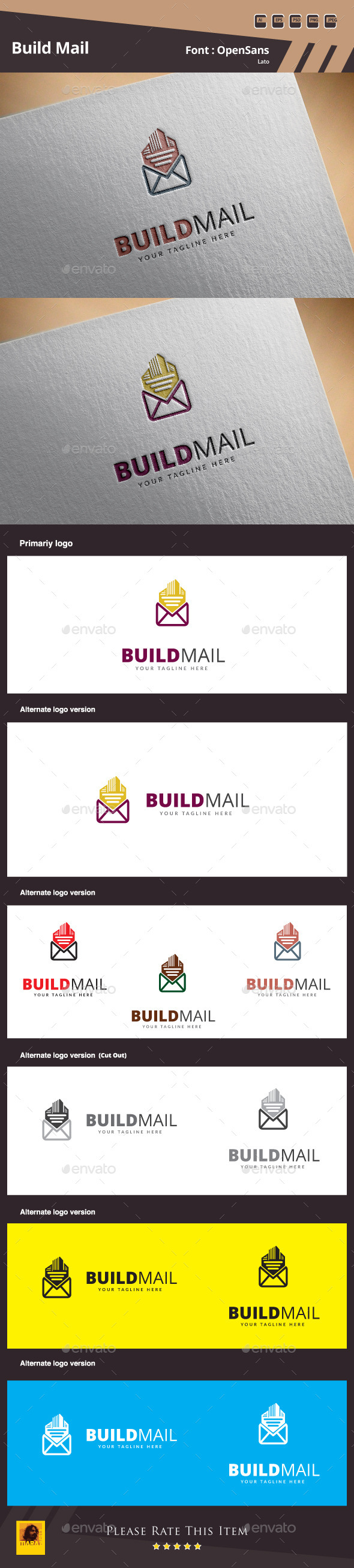 Build Mail Logo Template - Buildings Logo Templates