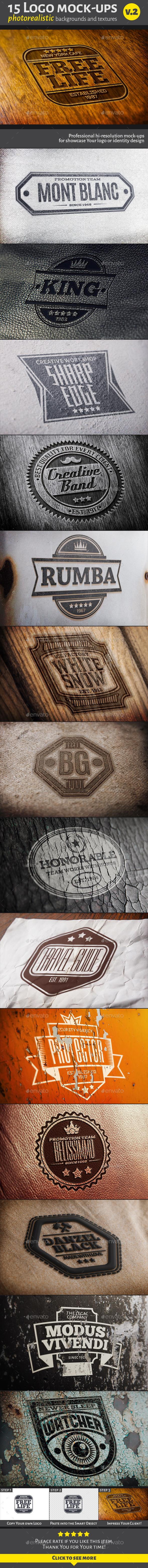 15 Logo Mock-ups v.2 - Logo Product Mock-Ups