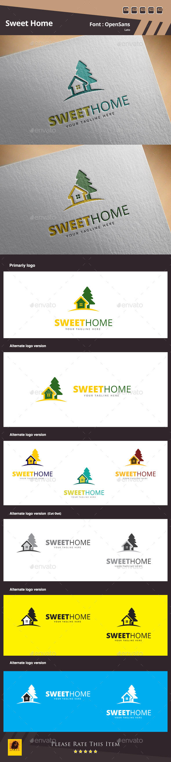 Sweet Home Logo Template - Buildings Logo Templates