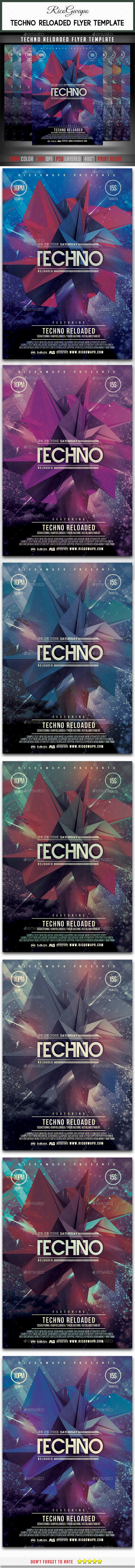 Electro Reloaded Flyer Template - Flyers Print Templates