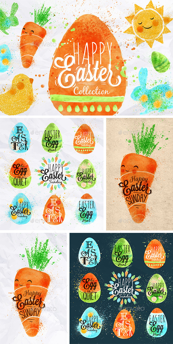 Easter Symbols - Seasons/Holidays Conceptual
