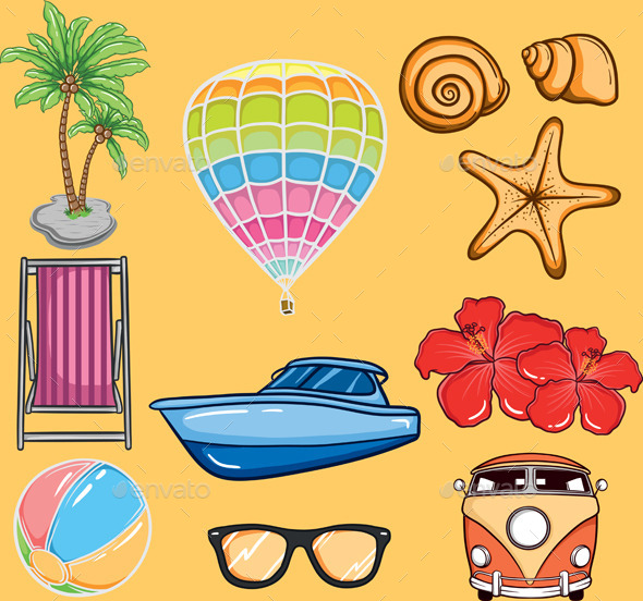 Tropical Summer Vector  - Miscellaneous Seasons/Holidays