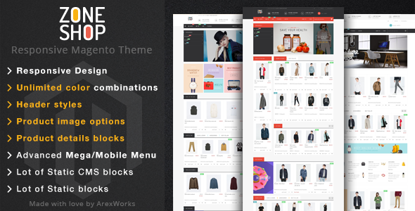 Zoneshop - Multipurpose Responsive Magento Theme - Shopping Magento