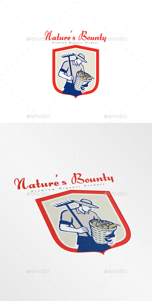 Nature's Bounty Premium Organic Produce Logo - Humans Logo Templates