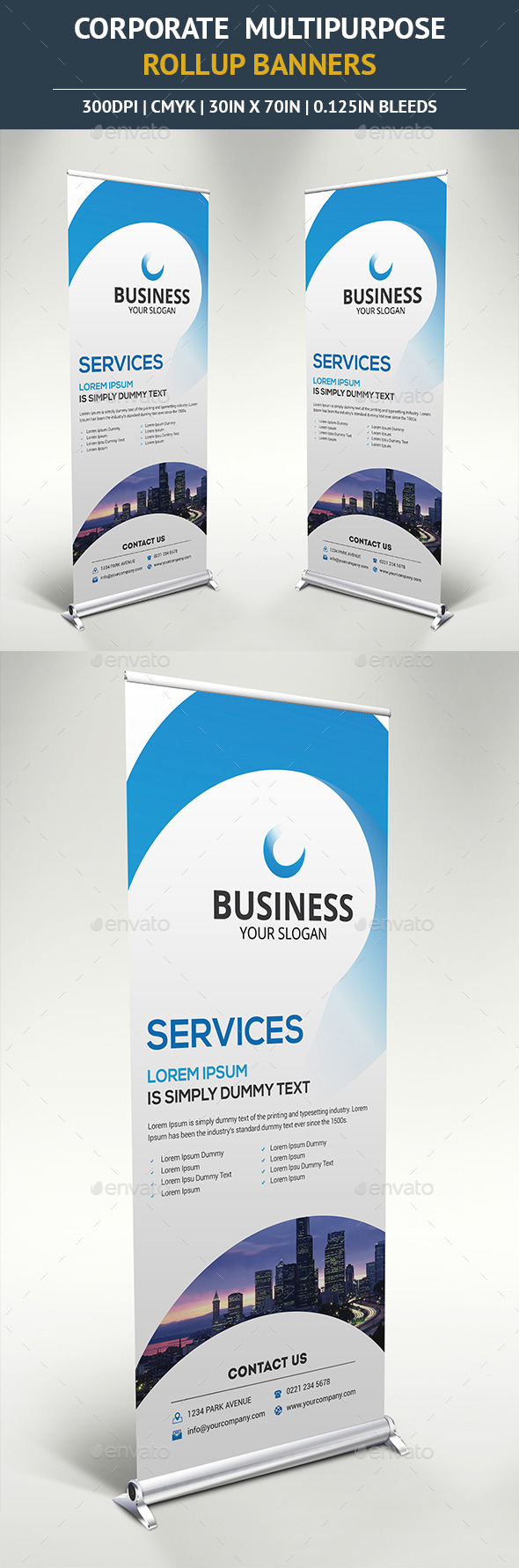 Corporate Rollup Banner Vol4 - Signage Print Templates