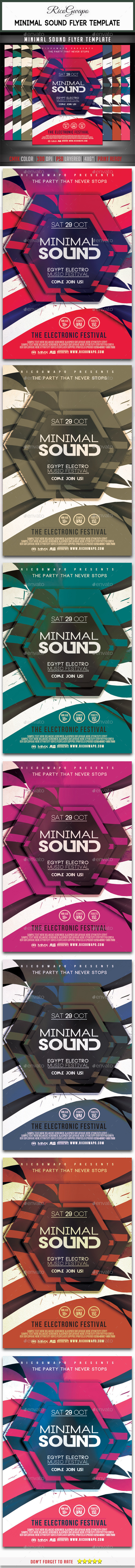 Minimal Sound Flyer Template - Clubs & Parties Events