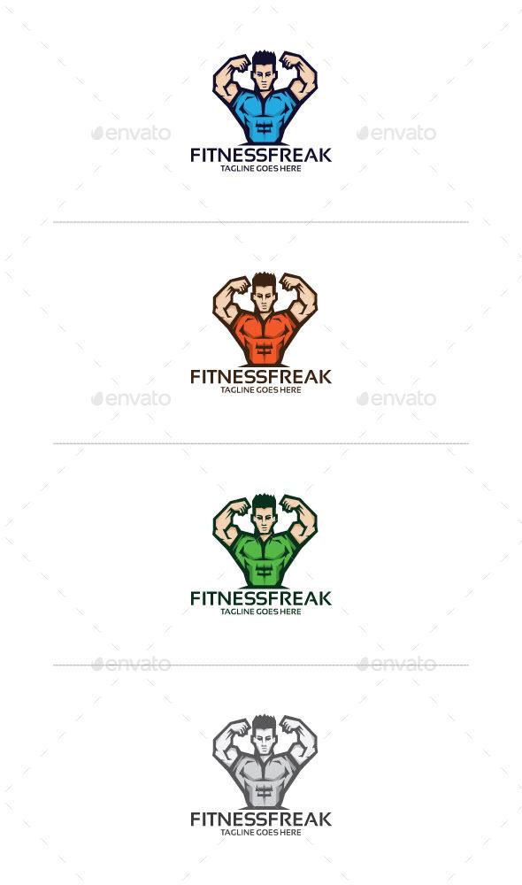 Fitness man Logo Mascot - Humans Logo Templates