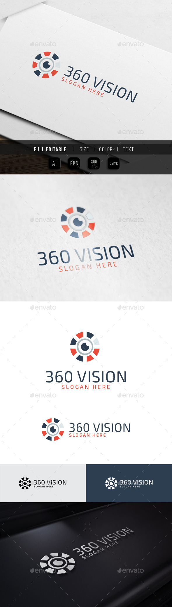360 Vision - View Media - Symbols Logo Templates