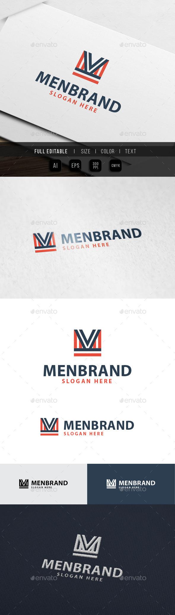 Men Apparell - M Letter Logo - Letters Logo Templates