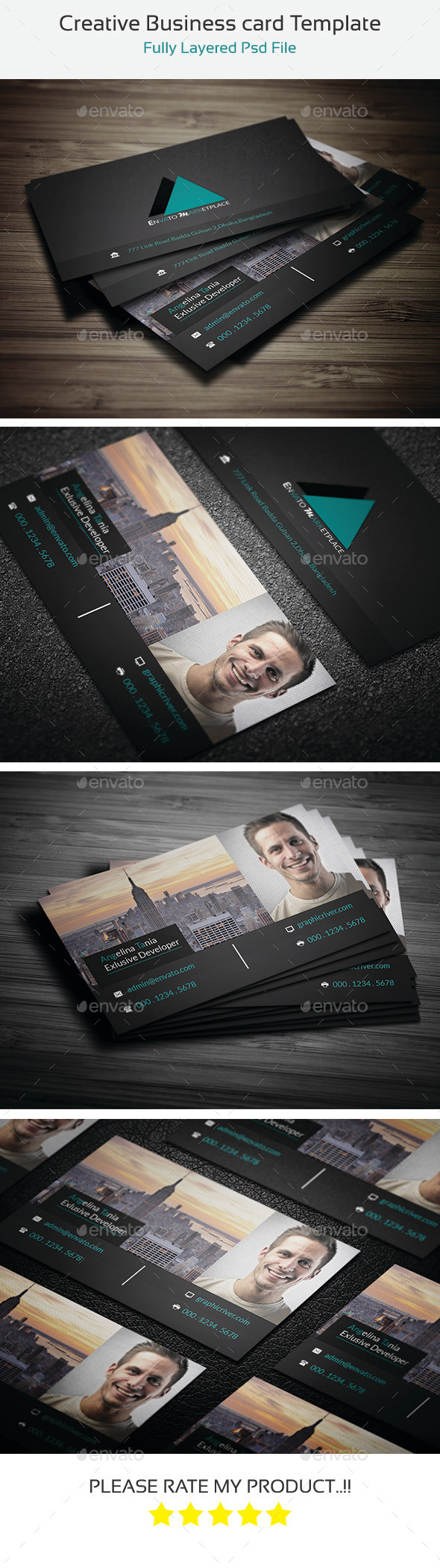 Creative Business Cards Template - Retro/Vintage Business Cards