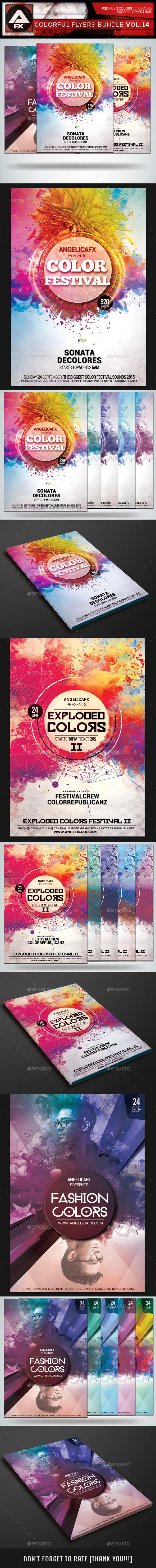 Colorful Flyers Bundle Vol.14 - Clubs & Parties Events