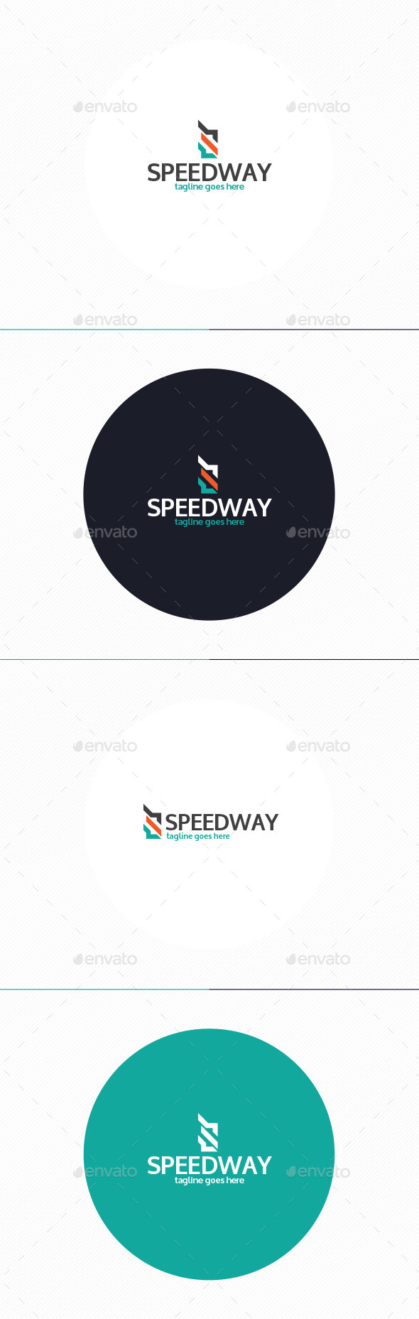 Speed Way Logo • Letter S - Letters Logo Templates