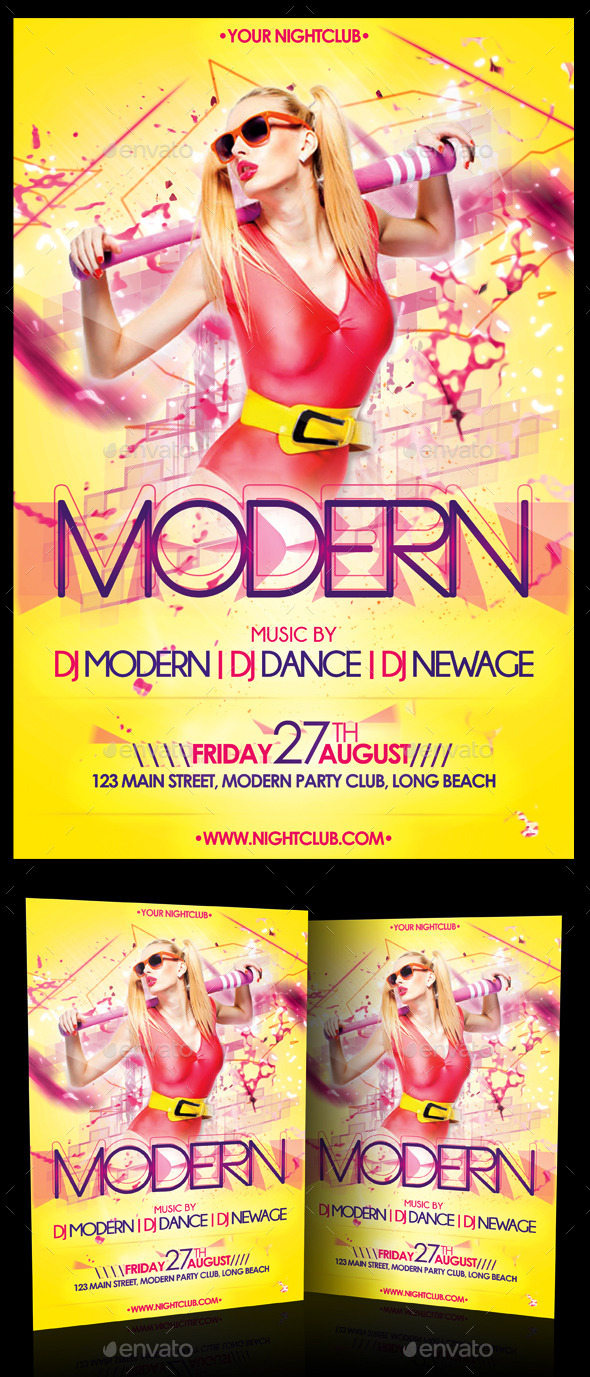 Modern Party Flyer - Clubs & Parties Events