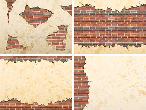 Old Brick Wall Backgrounds  - Backgrounds Decorative