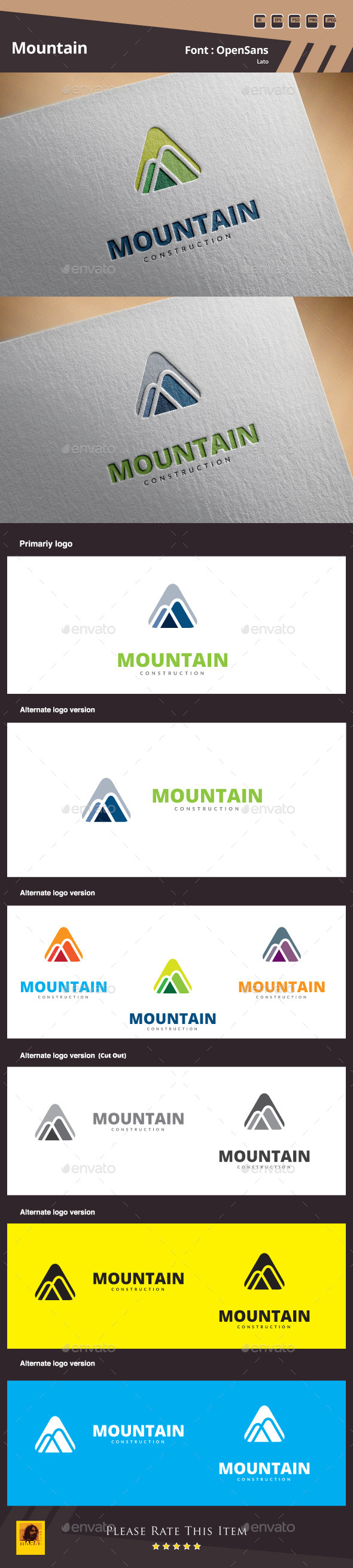 Mountain Logo Template - Buildings Logo Templates