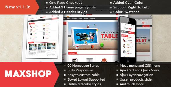 Maxshop – Premium Multipurpose Magento Theme